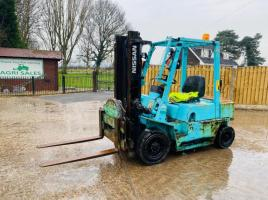NISSAN PJ02 FORKLIFT C/W TINE TURN TABLE