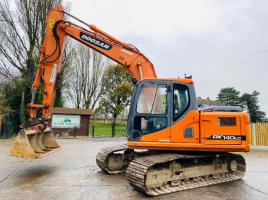 DOOSAN DX140LC TRACKED EXCAVATOR * YEAR 2011 , ONLY 5851 HOURS * SEE VIDEO *