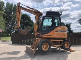 CASE WX95 WHEELED EXCAVATOR C/W BLADE AND STABILISER LEGS ( YEAR 2008 ) ( PLEASE SEE VIDEO )