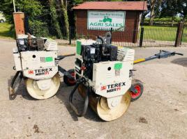 TEREX MBR71 PEDESTRIAN ROLLER * YEAR 2010 CHOICE OF TWO *
