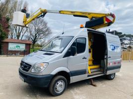MERCEDES SPRINTER MWB HIGH ROOF VAN C/W 12.9 METER TELESCOPIC MAN BASKET