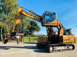 CASE CX210 TRACKED EXCAVATOR C/W HIGH RISE CABIN & ROTATING SELECTOR GRAB