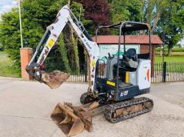 BOBCAT E19 MINI DIGGER * YEAR 2015 * C/W EXPANDING TRACKS * PLEASE SEE VIDEO *