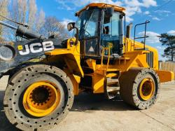 JCB 457ZX 4WD LOADING SHOVEL * YEAR 2014 * C/W SOLID TYRES