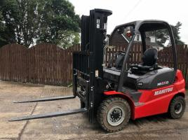 UNUSED MANITOU M125D FORKLIFT C/W SIDE SHIFT ( YEAR 2018 )