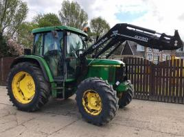 JOHN DEERE 6210 TRACTOR CW QUICKE Q720 LOADER ( PLEASE SEE VIDEO )