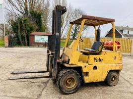 YALE GLP06 FORKLIFT C/W SOLID TYRES & PALLET TINES