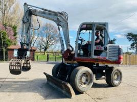 TAKEUCHI TB175W WHEELED EXCAVATOR C/W FRONT BLADE & SELECTOR GRAB