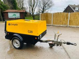 COMPAIR C20 TOWABLE COMPRESSOR * YEAR 2008 * C/W KUBOTA ENGINE