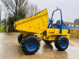 TEREX 9 TON 4WD DUMPER * ONLY 1553 HOURS * C/W ROLE BAR