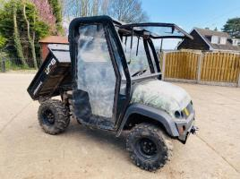 JCB WORKMAX 4WD UTILITY VEHICLE * YEAR 2012 * C/W MANUAL TIP BODY