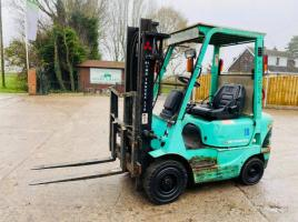 MITSUBISHI FG18K GAS FORKLIFT C/W FINGER TIP CONTROLS & SIDE SHIFT
