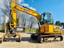 JCB JS160LC HIGH CABIN TRACKED EXCAVATOR * YEAR 2011 * C/W ROTATING SELECTOR GRAB