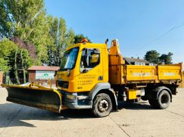 DAF 55.180 3 WAY TIPPER LORRY C/W FRONT LINKAGE & SNOW PLOW