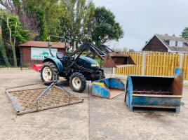 SHIRE 330 4WD TRACTOR LOADER 183 HOURS FLAIL MOWER, SPREDDER, HARROWS, BACK BOX