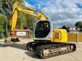 NEW HOLLAND KOBELCO E135SR EXCAVATOR YEAR 2008 ZERO SWING C/W QUICK HITCH *VIDEO*