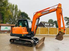 DOOSAN EXC55 TRACKED EXCAVATOR * YEAR 2010 * C/W AC CABIN * SEE VIDEO *