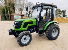 BRAND NEW SIROMER 404 4WD TRACTOR WITH SYNCHRO CAB YEAR 2021 C/W TURF TYRES