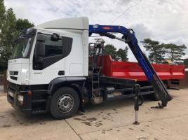 IVECO STRALIS 450 CW 24FT DROPSIDE BODY & 12.5S PPM HIAB ( YEAR 2010 )