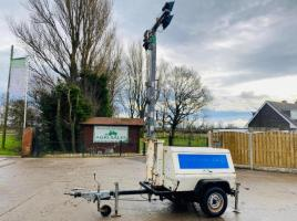 TOWABLE TEREX AL4050D LIGHTING TOWER C/W 3 CYLINDER KUBOTA ENGINE