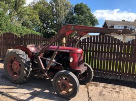 DAVID BROWN 25D TRACTOR C/W FRONT LOADER ( YEAR 1954 )