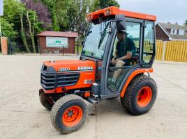 KUBOTA B2110HST COMPACT TRACTOR C/W FULLY GLAZED CABIN