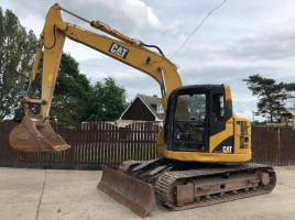 CAT 313C TRACKED EXCAVATOR CW FRONT BLADE