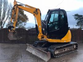JCB 8080 HIGH RISED CAB EXCAVATOR C/W RUBBER BLOCK PAD TRACKS