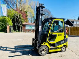 CLARK C20G FORKLIFT *YEAR 2012, ONLY 2730 HOURS* C/W FULLY GLAZED CABIN