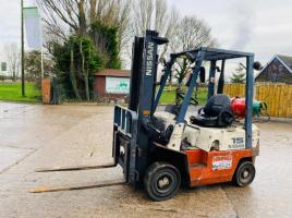 NISSAN 15 FORKLIFT C/W SIDE SHIFT * HEAD GASKET ISSUE *