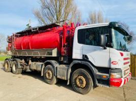 SCANIA P340 8X4 DOUBLE DRIVE JETTER & VACUM LORRY