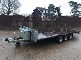 GRAHAM EDWARDS 16FT FLAT BED TRIPLE AXLE TRAILER