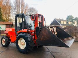 MANITOU M426.CP 4WD MASTED FORKLIFT C/W BUCKET AND PALLET TINES