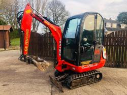 JCB 8014 MINI DIGGER * YEAR 2008 * C/W FULLY GLAZED CABIN & OFF SET BOOM