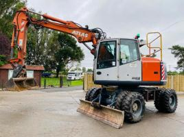 ATLAS-TEREX 1404K WHEELED EXCAVATOR * ONLY 5295 HOURS * ROAD REGISTERED *