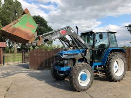FORD 6640 DUAL POWER TRACTOR C/W MAILLEUX MX80 LOADER & BUCKET