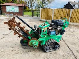 DITCH WITCH R16 WALK BEHIND TRENCHER * ONLY 224 HOURS * C/W HALF TRACKS
