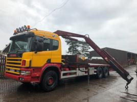 SCANIA 94D 300 LOW LOADER C/W FASSI TRIPPLE PUSH OUT CRANE