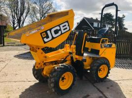 JCB 1T-2 HIGH TIP DUMPER * YEAR 2017 ONLY 128 HOURS * PLEASE SEE VIDEO *