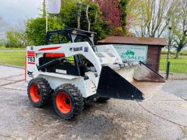 BOBCAT 763 KIDSTEER * ONLY 3177 HOURS * C/W BUCKET