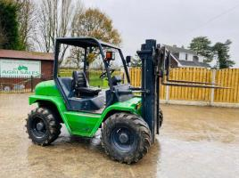 AGRIA TH30-21 4WD ROUGH TERRIAN CONTAINER SPEC FORKLIFT C/W SIDE SHIFT