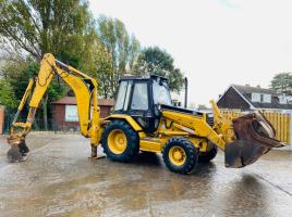 CATERPILLAR 428B BACK-HOE DIGGER C/W SELECTION OF BUCKETS & REAR EXTENDING DIG