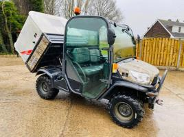 KUBOTA 4WD DIESEL UTILITY VEHICLE *ROAD REG 65 PLATE * C/W HYDRAULIC TIP BODY