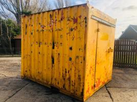 STORAGE CONTAINER C/W 2 X ENTRANCE & ELECTRICAL POINTS