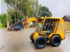 JCB ROBOT 165 SKIDSTEER C/W FULLY GLAZED CABIN * SEE VIDEO *