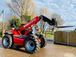 MANITOU MLT627 TURBO TELEHANDLER * AG-SPEC * YEAR 2009 C/W BRAND NEW TYRES