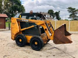 CASE 410 SERIES 3 SKID STEER * YEAR 2008 * C/W BUCKET & SOLID TYRES