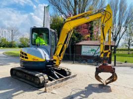 NEW HOLLAND E50 TRACKED EXCAVATOR *YEAR 2010*  C/W SELECTOR GRAB